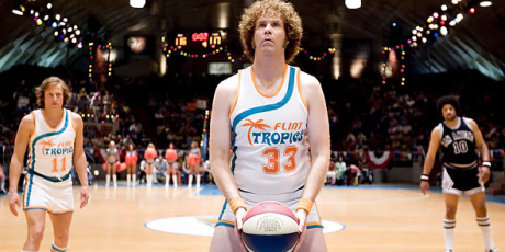 Jackie Moon takes granny shot at basket