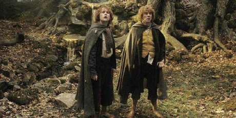 Merri and Pippen in Lord of the rings