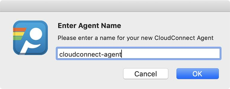 Agent name text field