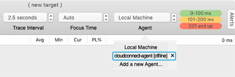 The Agent dropdown with a newly-deployed agent